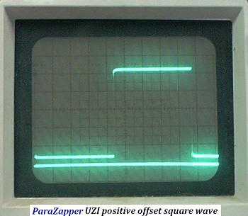 UZI-3 produces 100 percent positive signal ( stays above the baseline )and True Square Wave. Click for larger image.